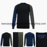 Halsausschnitt-Form-Entwurfs-erstklassige reine Kaschmir-Strickjacke der Männer