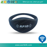 Wristband passif imperméable à l'eau du silicone RFID d'à haute fréquence 13.56MHz d'ISO14443A