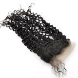 Frontal riccio crespo 100% del merletto dei capelli umani di Remy del Virgin