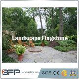녹슬 노란 또는 회색 외부 포장을%s 슬레이트 돌에 의하여 그물에 걸리는 Flagstone