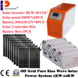 inversor puro de la energía solar de la onda de seno 3000W con Construir-en el regulador