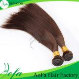 100% indisches menschliches Brown peruanisches Bresilien hochwertiges Jungfrau-Haar