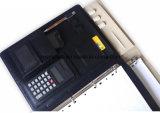 Archivio di cuoio Padfolio del raccoglitore di anello dell'unità di elaborazione della chiusura del fermo con il calcolatore
