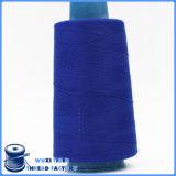 Linha Sewing girada tingida do poliéster da cor contínua 40s/2 100%