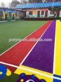 Pista corriente colorida, hierba artificial, para el Kindergartner