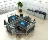 移動式軸受け(HF-YZQ321)が付いている現代支えがないオフィスワークステーションガラス区分
