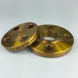A flange do Slip-on do aço de carbono A105 forjou a flange com revestimento amarelo (Kt0007)