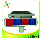 Piscando Solar Traffic Light Sinal Vermelho Azul Signal Segurança no Trânsito