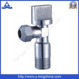 Soupape de cornière en laiton de chromage pour la salle de bains (YD-5018)