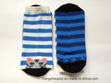 Cartoon Pattern della signora e Stripes Cotton Winter Long Socks (PTLS16002)