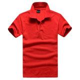 T-shirt organique de coton de polo pur de couleur