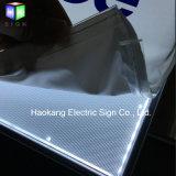 布の記憶装置の印の表示のためにLEDによってバックライトを当てられるポスターフレームのライトボックスを広告すること
