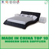 Мебели спальни сбывания фабрики кровать самомоднейшей реальная кожаный
