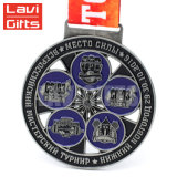 El diseño de encargo al por mayor directo de la aleación del cinc de la fábrica su propio metal acuña la medalla
