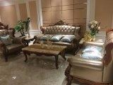 現代ソファーの家具または居間のソファーのためのチェスターフィールドの古典的な革ソファー