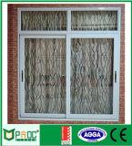 Finestra di scivolamento di alluminio di Pnoc080410ls con vetro colorato