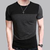 Teeshirts fondamentaux occasionnels d'ajustement mince de T-shirt de chemise de circuit de collet de l'O des hommes