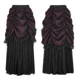 Saias góticos da bolha das mulheres da saia do laço quente do delírio do punk Q-332 mini