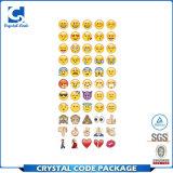 до даты вводя ярлыки в моду стикеров Emoji