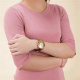 Trendy Waterdichte Manier van de Manier van het Horloge van de Diamant van Belbi nam de Vrouwelijke het Gouden Horloge van het Leer toe