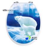 Asiento de tocador vendedor caliente de la cara superior 3D del cierre de la suavidad de la fábrica del asiento de tocador de China