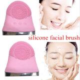 El cepillo de limpiamiento facial limpio del silicón de la cara de la herramienta del cuidado de piel de la despedregadora del poro eléctrico del cepillo para el BALNEARIO de la colada de la cara vibra el Massager