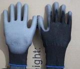 13G de besnoeiing-Weerstand van Hppe de Met een laag bedekte Handschoen van de Veiligheid met Zwart Pu