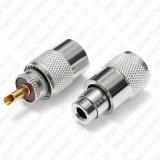 Des UHFSo239 männlicher koaxialer Verbinder Stecker-Lötmittel-Pl259 für Rg58 Rg142 LMR195 Rg400 3D-Fb Kabel