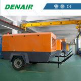 Compresor de aire rotatorio movible diesel industrial del tornillo con muchas ventajas