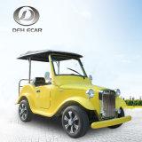 6 Seater Batterie-elektrisches Kraftstoff-Weinlese-Auto-klassische Karren-Golf-Laufkatze