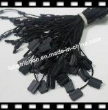 Tag plástico do selo do preto da corda do poliéster (ST056)