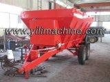 Machine de propagation d'engrais d'écarteur traînée par tracteur