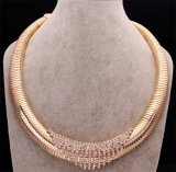 Gold al por mayor Plated Metal Necklace Jewelry para Woman Sn022