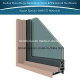 Portas exteriores de alumínio de portas interiores com funções térmicas do freio