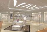 Moderne weiße hölzerne Dame-Kleid-Speicher-Bildschirmanzeige-Zahnstange