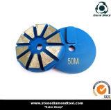 80mm Segment-konkreter Diamant-reibende Platte für Terrco