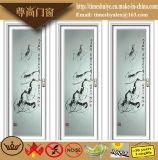 Portes en aluminium classiques de salle de bains de portes de toilette de portes de tissu pour rideaux