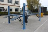 Fermeture de la pompe électrique Four Post Car Hoist Hydraulic Vehicle Parking Lift with Wheels and Jacks