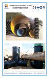 PE/PP gewundener gewölbter ein Profil erstellter Krah Rohr-kontinuierlicher Strangpresßling, der Maschine herstellend verdrängt