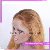 Pelucas brasileñas 100% del cordón del pelo de Remy del pelo humano de la Virgen sin procesar de la peluca