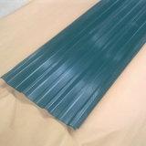 chapa de aço galvanizada corrugada folha telhando de 600-1250mm para a construção