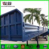 De 50 toneladas del Tri-Árbol de la pared lateral del cargo del rectángulo acoplado plano semi para la venta