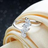 여자의 단것 925 순은 지르콘 다이아몬드 결혼식 오프닝 반지