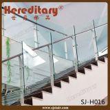 ステアケースのガラス柵(SJ-S093)のためのステンレス鋼のガラス手すり