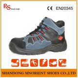 Blue Suede Leather Steel Toe Cruiser Segurança Botas de segurança S3