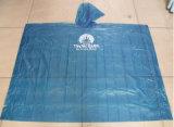 Голубой одноразовый ясный пластичный костюм дождя для перемещения Using