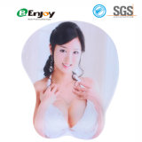 Sexy 3D Busty Girl Mouse Pad com Soft Gel Wrist