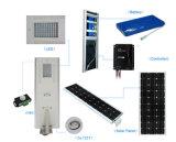 80W todo en una luz de calle solar del sensor de PIR