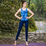 Cotton Spandex Printing Yoga Pants Sexy Tank Top Gym Wear