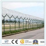 Aeropuerto de seguridad de malla de alambre de la tapa superior con alambre bobina de alambre